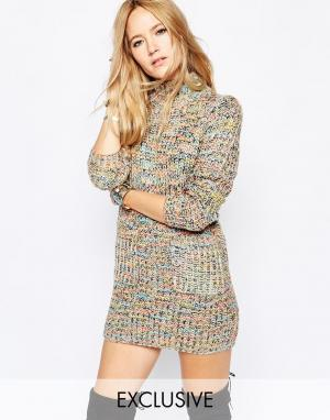 Spiritual Hippie Платье-джемпер с разноцветным принтом Spritual. Цвет: мульти