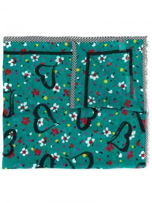Платок с принтом Marc Jacobs. Цвет: зелёный
