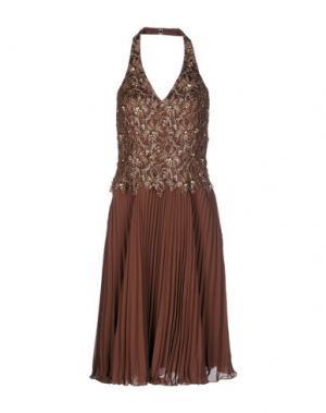 Платье до колена MUSANI COUTURE. Цвет: какао