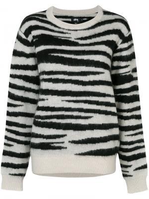 Striped sweater Stussy. Цвет: чёрный