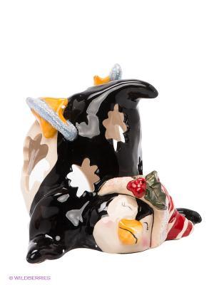 Подсвечник Пингвин в танце на льду Blue Sky. Цвет: черный, желтый, красный, светло-бежевый