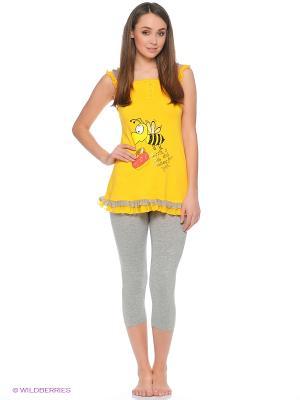 Пижама Cascatto. Цвет: желтый