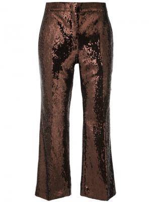 Укороченные брюки клеш Nº21. Цвет: коричневый