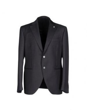 Пиджак LUIGI BIANCHI Mantova. Цвет: стальной серый