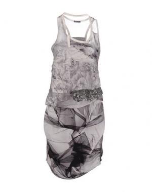 Короткое платье INSIDEOUT. Цвет: светло-серый