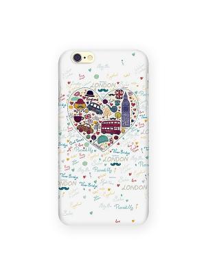 Чехол для IPhone 6 London - белое сердце Mitya Veselkov. Цвет: белый, серый