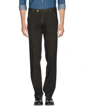 Повседневные брюки BARBA Napoli. Цвет: темно-зеленый