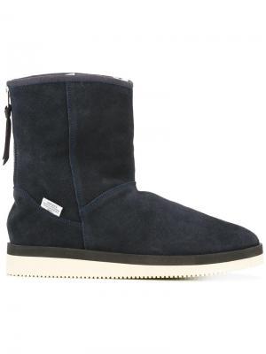Ботинки с подкладкой из овчины Suicoke. Цвет: синий