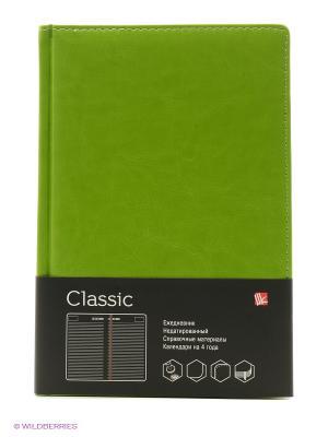 Ежедневник А5, недатированный 152 листа, CLASSIC салатовый Канц-Эксмо. Цвет: салатовый