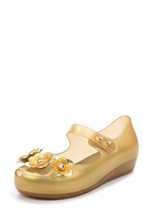 Туфли Melissa. Цвет: золотой