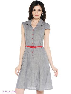 Платье VENUSITA. Цвет: серый