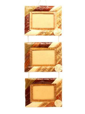 Набор рамок 3 шт 50х20 см горизонтальные Elff Ceramics. Цвет: золотистый