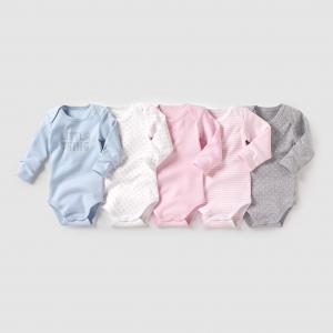 Комплект из 5 боди с длинными рукавами на возраст от 0 месяцев до 3 лет R édition. Цвет: разноцветный
