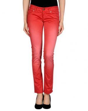 Повседневные брюки QUEEN of LOVE. Цвет: коралловый