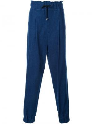 Свободные спортивные брюки Icosae. Цвет: синий