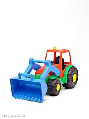 Игрушка Трактор AVC. Цвет: голубой, красный, зеленый