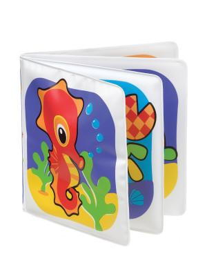 Playgro Игрушка для игр в ванной Книжка-пищалка. Цвет: фиолетовый, белый, желтый