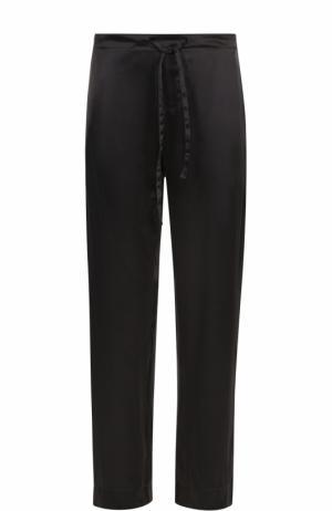 Шелковые домашние брюки с поясом на резинке Zimmerli. Цвет: темно-серый