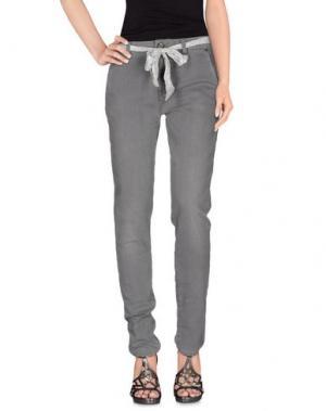Джинсовые брюки LORENA ANTONIAZZI. Цвет: серый