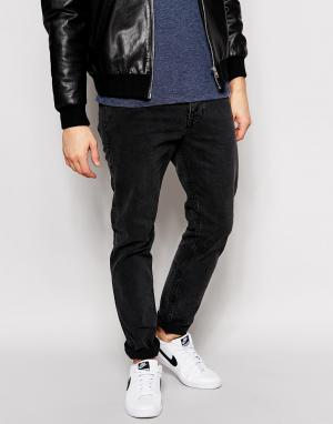 Dr Denim Черные джинсы слим Clark. Цвет: черный