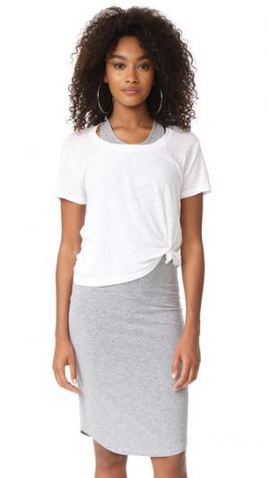 Спортивное платье MONROW. Цвет: белый