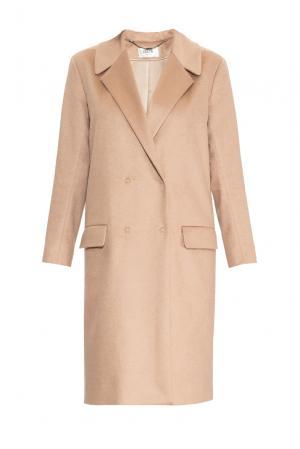 Кашемировое пальто 157964 Izeta. Цвет: бежевый