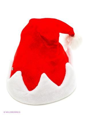 Аксессуар карнавальный Шапка Деда Мороза Русские подарки. Цвет: красный, белый