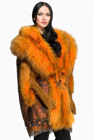 Кейп из меха лисы 141891 Igor Gulyaev. Цвет: оранжевый