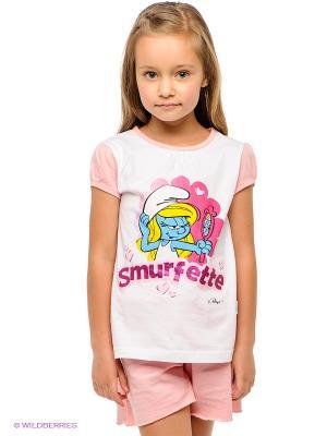 Пижама PlayToday. Цвет: белый, розовый, голубой, желтый