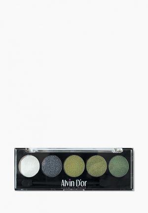 Тени для век Alvin Dor D'or. Цвет: зеленый