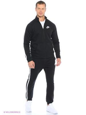 Спортивный костюм M NSW TRK SUIT FLC SEASON Nike. Цвет: черный, антрацитовый, белый