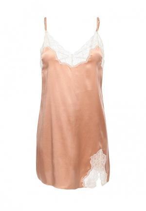 Сорочка ночная Heidi Klum Intimates. Цвет: бежевый