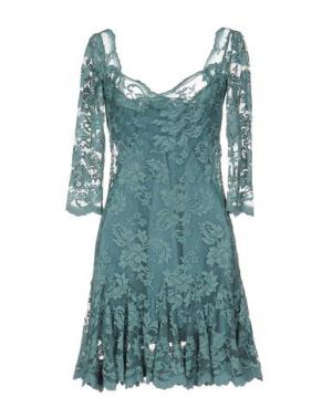 Короткое платье OLVI'S. Цвет: грифельно-синий