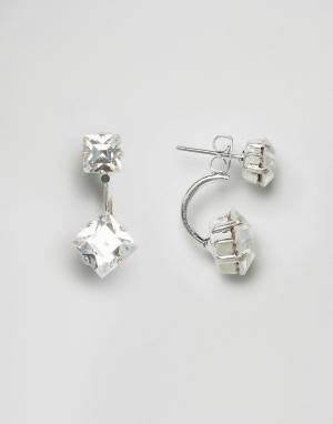 Krystal Серьги с кристаллами Swarovski от. Цвет: серебряный