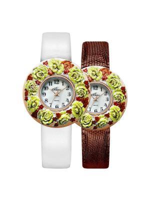 Часы Mikhail Moskvin. Цвет: светло-зеленый, бордовый, серебристый