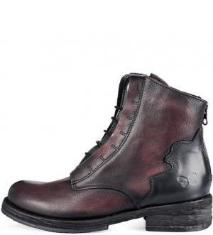 Кожаные демисезонные ботинки Felmini. Цвет: бордовый