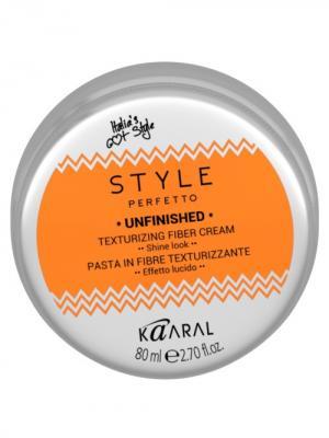 Style Perfetto Волокнистая паста для текстурирования волос Unfinished 80мл. Kaaral. Цвет: серебристый, оранжевый