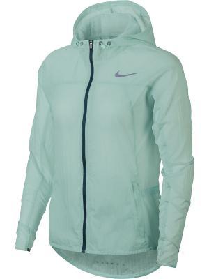 Ветровка W NK IMP LT JKT HD Nike. Цвет: зеленый, синий