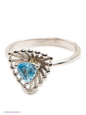 Кольцо ЭСТЕТ. Цвет: серебристый, голубой