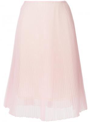 Плиссированная юбка Prada. Цвет: розовый и фиолетовый