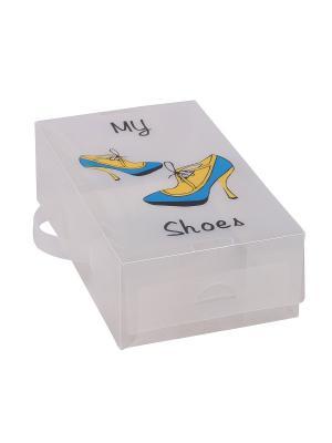 Ящик для хранения обуви Miolla. Цвет: прозрачный