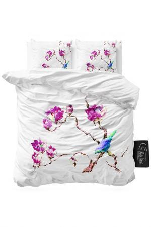 Комплект постельного белья Евро Sleeptime. Цвет: белый