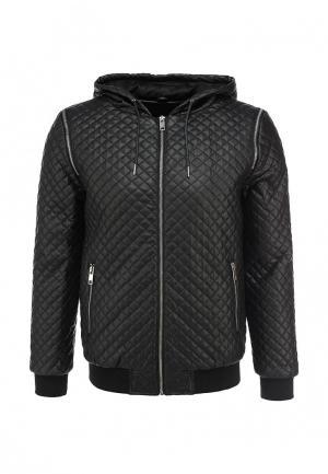 Куртка кожаная Eclipse. Цвет: черный