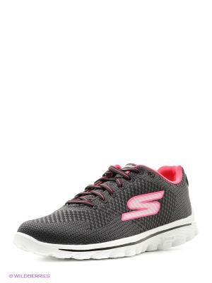 Кроссовки SKECHERS. Цвет: черный, розовый