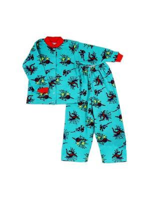 Пижама интерлок Агат. Цвет: бирюзовый