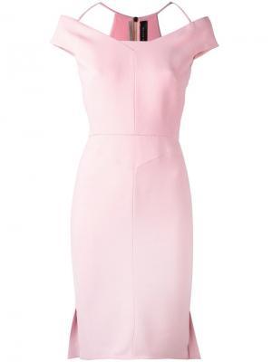 Платье Beatrix Roland Mouret. Цвет: розовый и фиолетовый