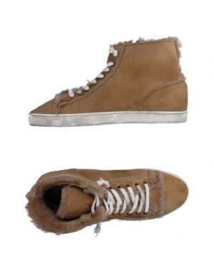 Высокие кеды и кроссовки YAB. Цвет: песочный