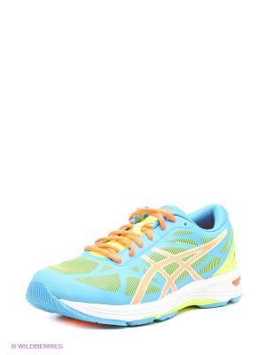 Беговые кроссовки Gel-Ds Trainer 20 ASICS. Цвет: голубой, оранжевый, зеленый, салатовый