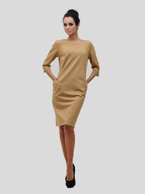 Платье MAYAMODA. Цвет: бежевый