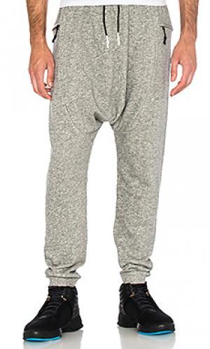 Флисовые брюки shogun Brandblack. Цвет: серый